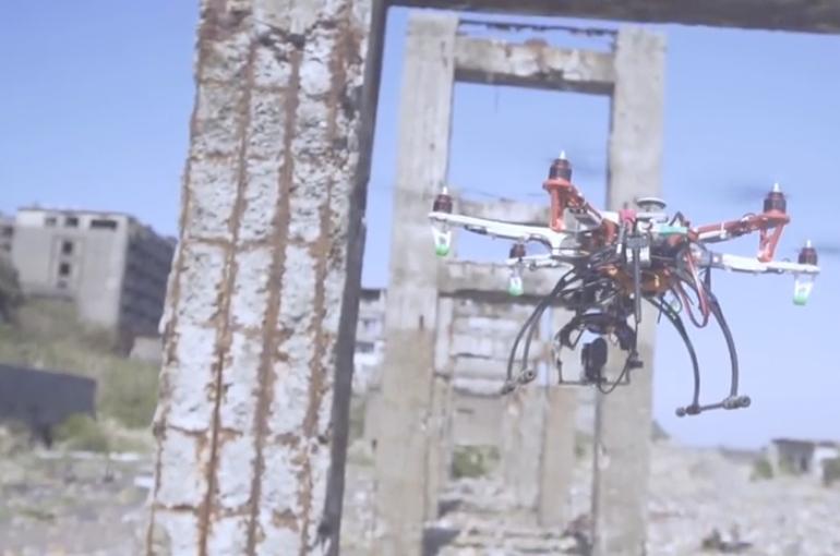 軍艦島で撮影されたSony Action CamのCM