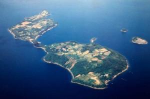 空港建設前の箕島の航空写真(提供:ニチレイフーズ)