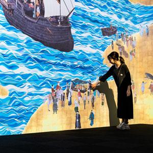 天正遣欧少年使節が見た世界を、チームラボによるインタラクティブな作品で体験 ―大村市ミライon「南蛮屏風図 天正遣欧少年使節」